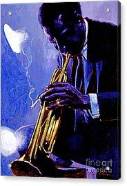 Blue Miles Acrylic Print by David Lloyd Glover