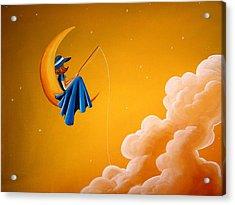 Blue Moon Acrylic Print by Cindy Thornton