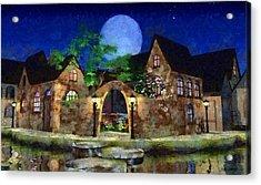 Blue Moon Painted Acrylic Print by Cynthia Decker