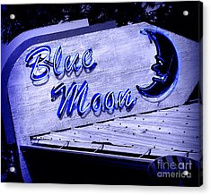 Blue Moon Acrylic Print by Perry Webster