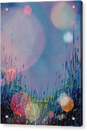 Blue Moons And Fireflies Acrylic Print by Diann Blevins
