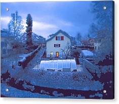 Blue Morn Acrylic Print by Chuck Shafer