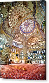 Blue Mosque Interior Acrylic Print by Artur Bogacki