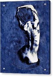 Blue Nude After Picasso Acrylic Print by Joe Bonita
