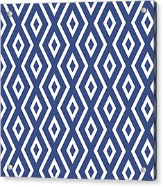 Blue Pattern Acrylic Print by Christina Rollo