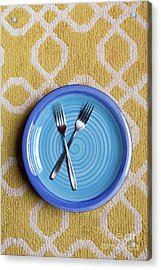 Blue Plate Special Acrylic Print by Edward Fielding