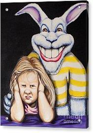 Blue Rabbit Acrylic Print by Matthew Lake