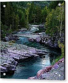 Blue River Acrylic Print by Joseph Noonan