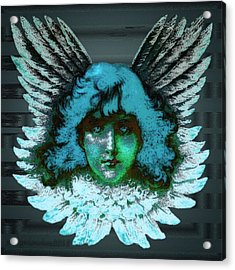 Blue Seraph Acrylic Print by Mimulux patricia no