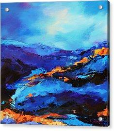 Blue Shades Acrylic Print by Elise Palmigiani