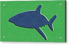 Blue Shark Acrylic Print by Linda Woods