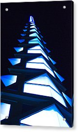 Blue Spire Acrylic Print by Richard Henne