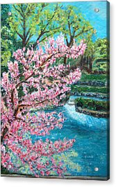 Blue Spring Acrylic Print by Carolyn Donnell