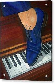 Blue Suede Shoes Acrylic Print by Marlyn Boyd
