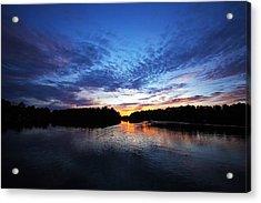 Blue Sunset Acrylic Print by Ty Helbach