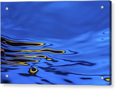 Blue Wave Abstract Number 2 Acrylic Print by Steve Gadomski