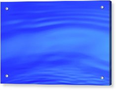 Blue Wave Abstract Number 4 Acrylic Print by Steve Gadomski