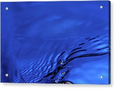 Blue Wave Abstract Number 5 Acrylic Print by Steve Gadomski