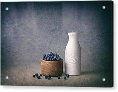 Blueberries And Cream Acrylic Print by Tom Mc Nemar