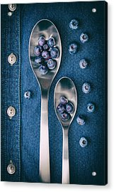Blueberries On Denim I Acrylic Print by Tom Mc Nemar