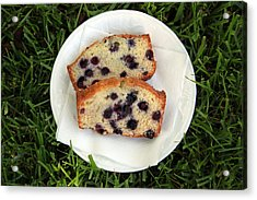 Blueberry Bread Acrylic Print by Linda Woods