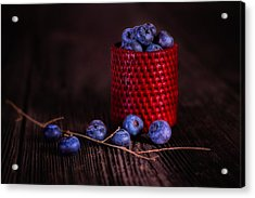 Blueberry Delight Acrylic Print by Tom Mc Nemar