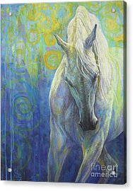 Blues Fighter Acrylic Print by Silvana Gabudean