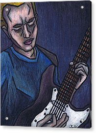 Blues Player Acrylic Print by Kamil Swiatek