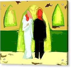 Blushing Bride And Groom 2 Acrylic Print by Patrick J Murphy