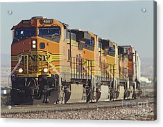 Bnsf Freight Train Acrylic Print by Richard R Hansen and Photo Researchers