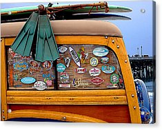 Boards And Woodie Acrylic Print by Ron Regalado