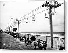 Boardwalk Ride Acrylic Print by John Rizzuto