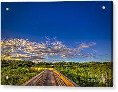 Boardwalk Sunset Acrylic Print by Marvin Spates