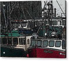 Boat City 2 Acrylic Print by Roger Charlebois