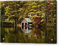 Boat House Acrylic Print by David Simons