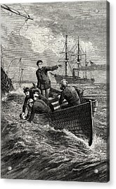 Boat Of The Deerhound Rescuing Captain Semmes Acrylic Print by American School