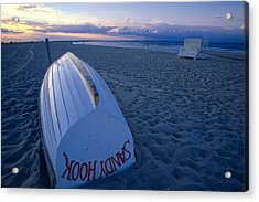 Boat On The New Jersey Shore At Sunset Acrylic Print by George Oze