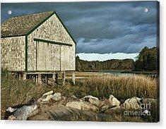 Boathouse Acrylic Print by John Greim
