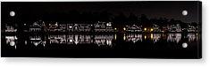 Boathouse Row Panorama - Philadelphia Acrylic Print by Brendan Reals