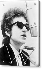 Bob Dylan B. 1941 With Harmonica Acrylic Print by Everett