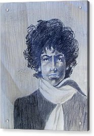Bob Dylan In The Rock Years Acrylic Print by Judith Redman