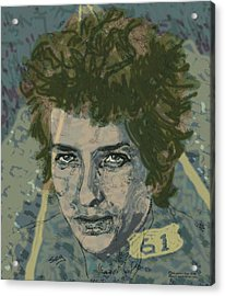 Bob Dylan's Highway 61 Acrylic Print by Suzanne Gee