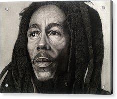 Bob Marley Drawing Acrylic Print by Angelee Borrero