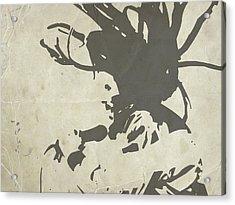 Bob Marley Grey Acrylic Print by Naxart Studio