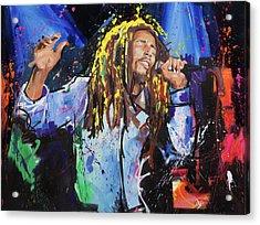 Bob Marley Acrylic Print by Richard Day