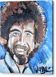Bob Ross  Acrylic Print by Jon Baldwin  Art