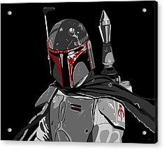 Boba Fett Star Wars Pop Art Acrylic Print by Paul Dunkel