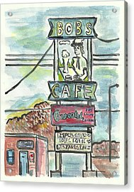 Bob's Cafe Acrylic Print by Matt Gaudian