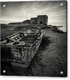 Boddin Point Wreck Acrylic Print by Dave Bowman