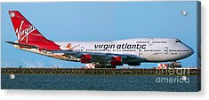 Boeing 747-4q8 Virgin Atlantic Lady Penelope At Sfo Acrylic Print by Wernher Krutein